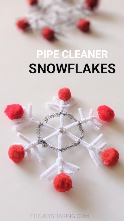 Pipe Cleaner Snowflake Craft For Kids The Joy Of Sharing