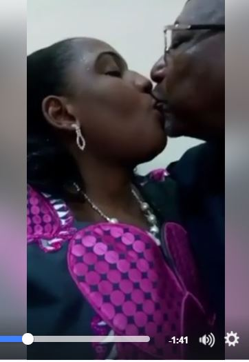 OMG!!! Abuja big man romancing & making out with his Lover in the office surface online