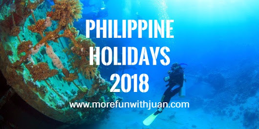 List of Philippine Holidays in 2018