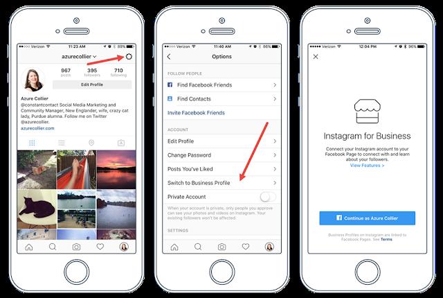 cara tukar instagram personal kepada business profile