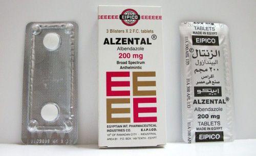 سعر ودواعى إستعمال الزنتال Alzental أقراص شراب للديدان