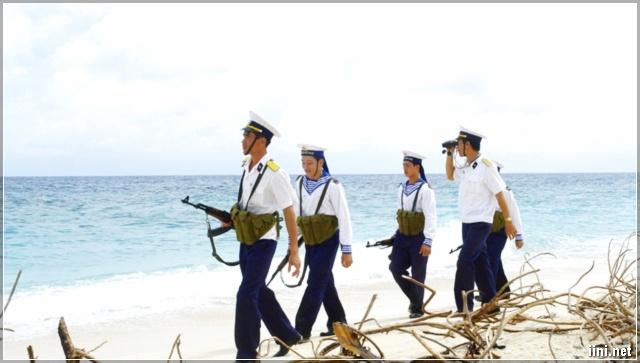 Lính Trường Sa Đang Làm Nhiệm Vụ