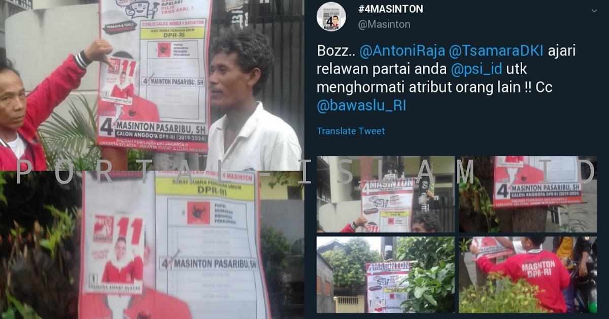 Citaten Politiek Luar Negeri : Tak punya etika tutupi atribut kampanye caleg pdi p tsamara amany
