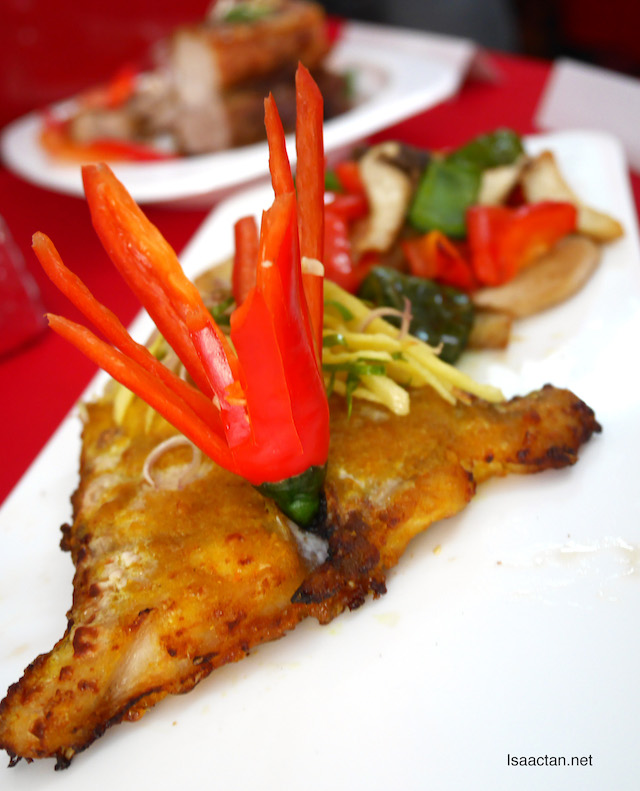 Our Grilled Spicy Fish with Shoulder Mushrooms
