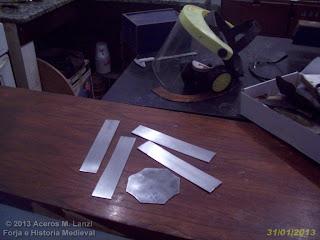 piezas pulidas para casco vikingo