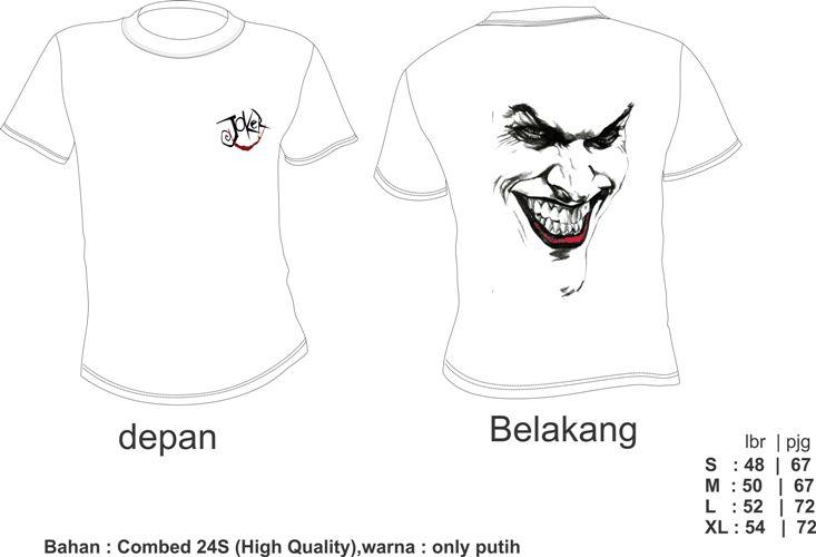 Desain Baju Joker