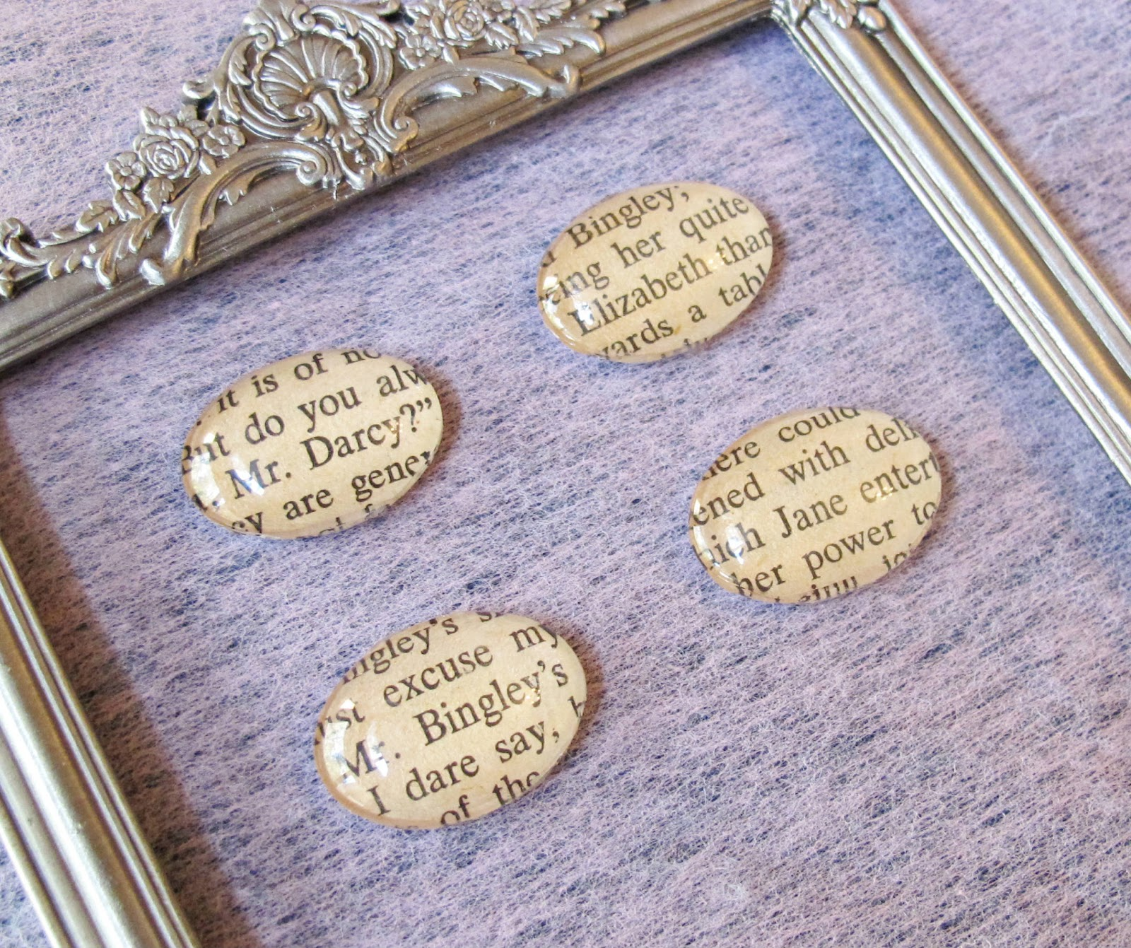 image glass magnets mr darcy elizabeth bennet jane austen pride and prejudice mr bingley jane bennetdomum vindemia upcycled
