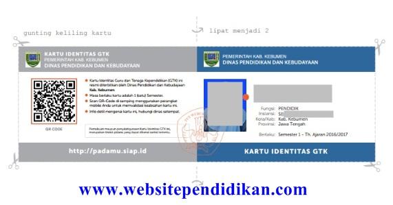 Cara Mengaktifkan PTK dan Cetak Kartu Digital Identitas GTK di Simpatika/Padamu Negeri Tahun Pelajaran 2016/2017 Semester 1