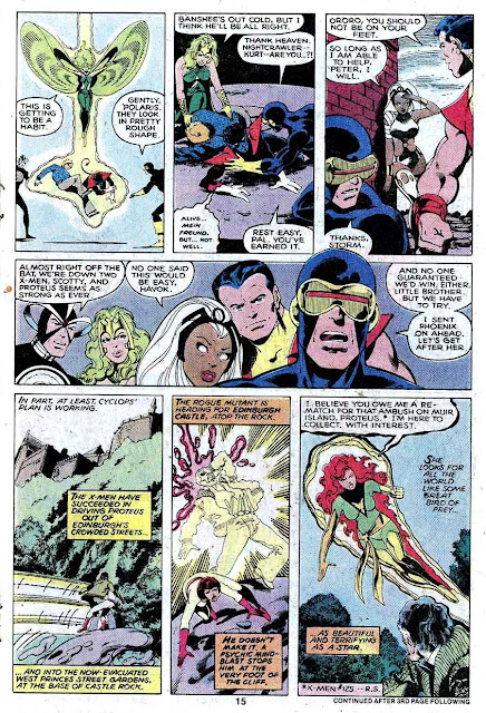 X-men v1 #128 marvel comic book page art by John Byrne