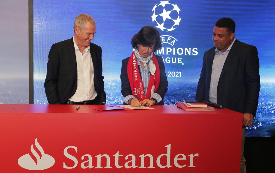 NOVIDADE: Santander será patrocinador da Liga de Campeões da UEFA a partir da temporada 2018/2019