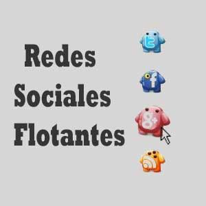 redes sociales flotantes