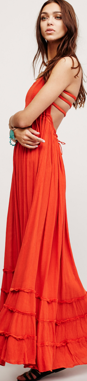Free People Extratropical Dress shown in Paprika