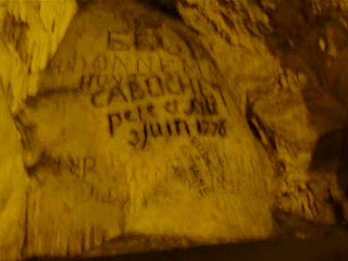 300-Year Old Graffiti Antiparos Cave Greece