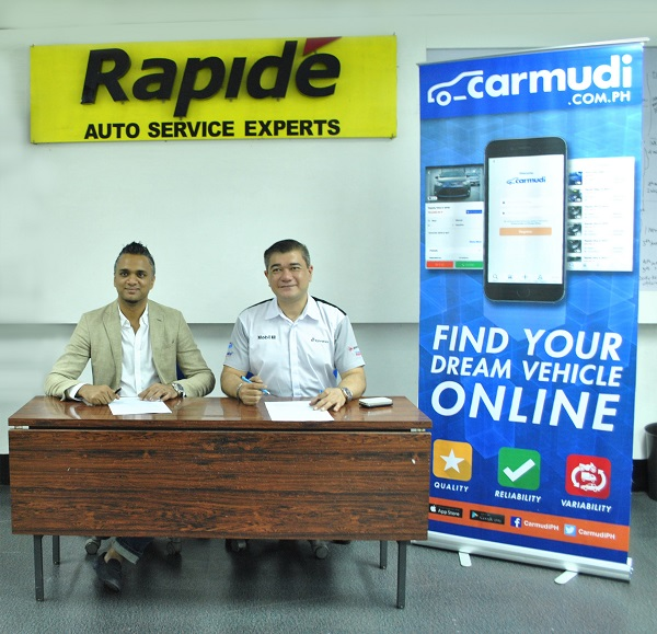 CARMUDI PH inks partnership with RAPIDE