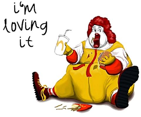 Gemytlig Ronald McDonald med fedme - I'm Loving it