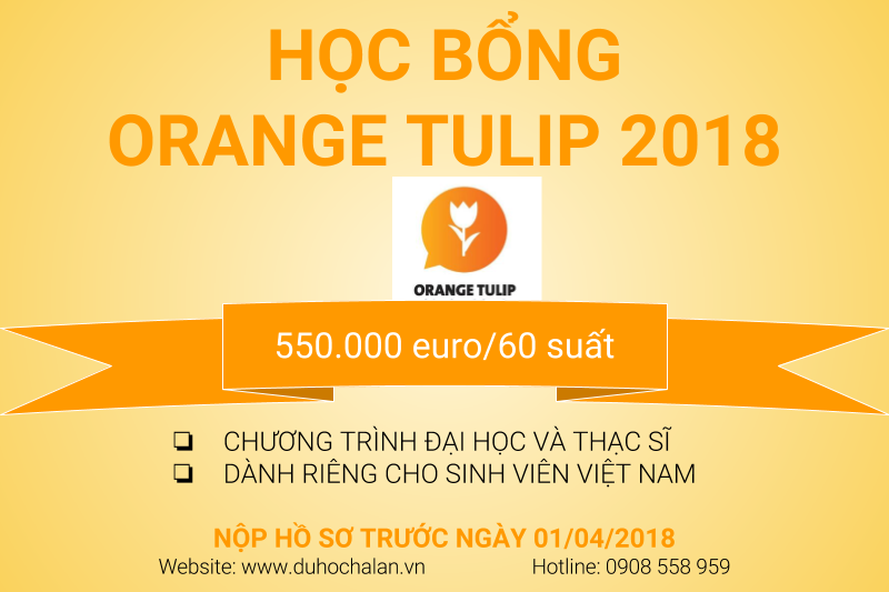 Học bổng Orange Tulip Scholarship 2018