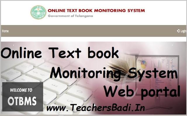 TS Online text books monitoring system,Web portal,TS OTBMS