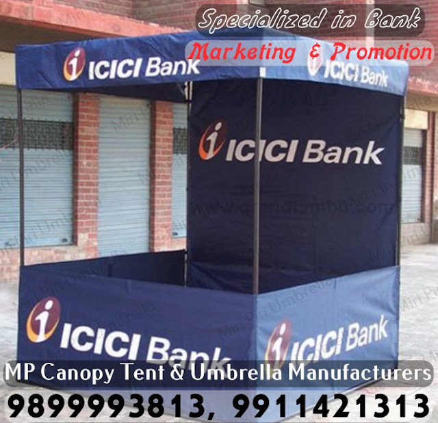 Bank Marketing Demo Tent, Corporate Promotion Canopy Tent for Bank Promotion, Printed Canopy Tent for Bank Promotion, Three Fold Canopy Tent for Bank Promotion, Two Fold Canopy Tent for Bank Promotion, Single Fold Canopy Tent for Bank Promotion,
