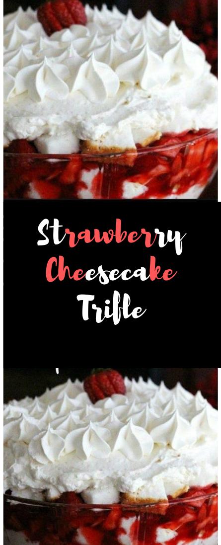 Strawberry Cheesecake Trifle #cake