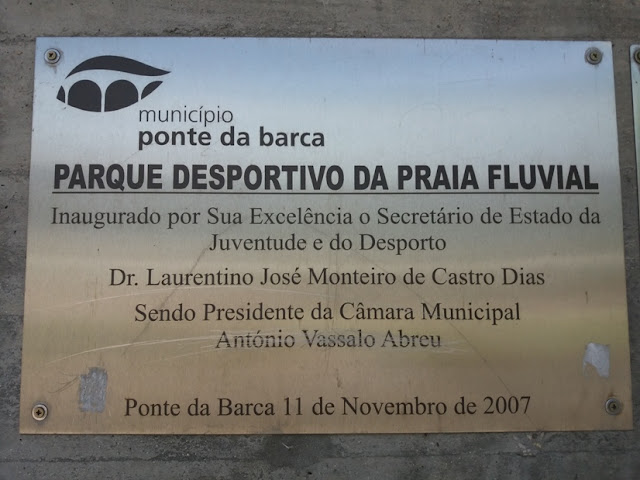 Placa Parque Desportivo da Praia Fluvial