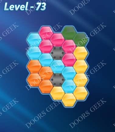 Block! Hexa Puzzle [5 Mania] Level 73 Solution, Cheats, Walkthrough for android, iphone, ipad, ipod