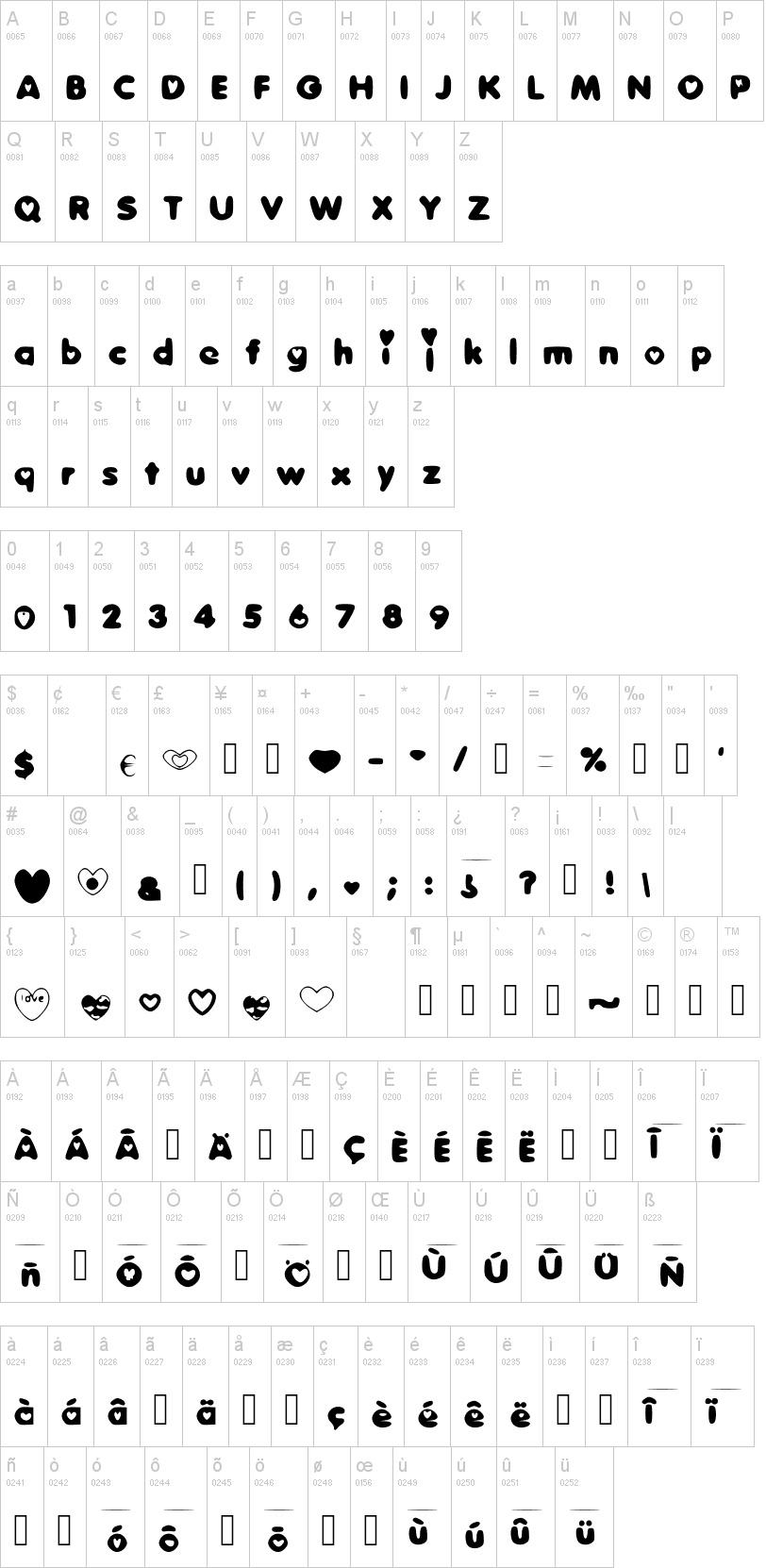 Dulce Amor tipografia abecedario
