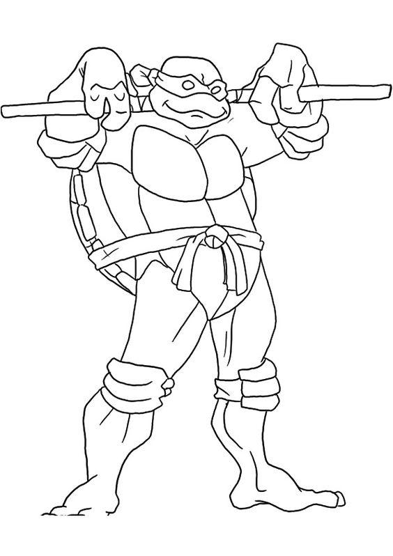 Tranh tô màu Ninja rùa 7
