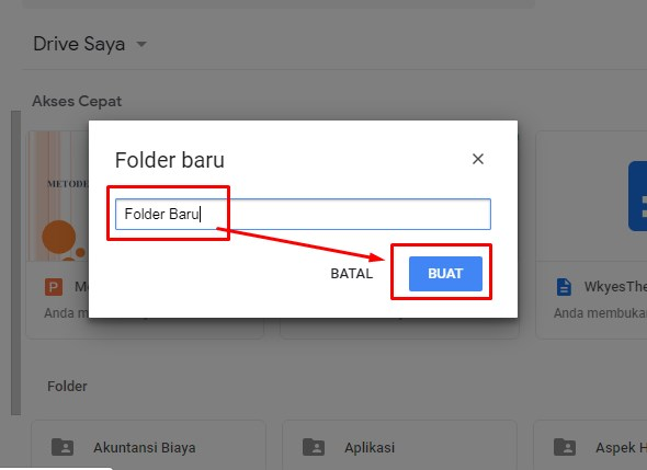 Isikan nama folder google drive