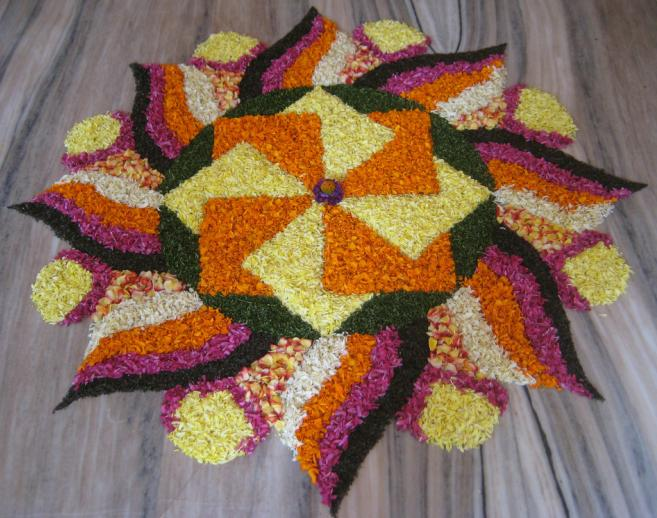 Worlds Largest collection of Pookalams (Flower Carpet