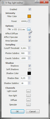 Tutorial meggunakan IES Light Vray Sketchup Downlight