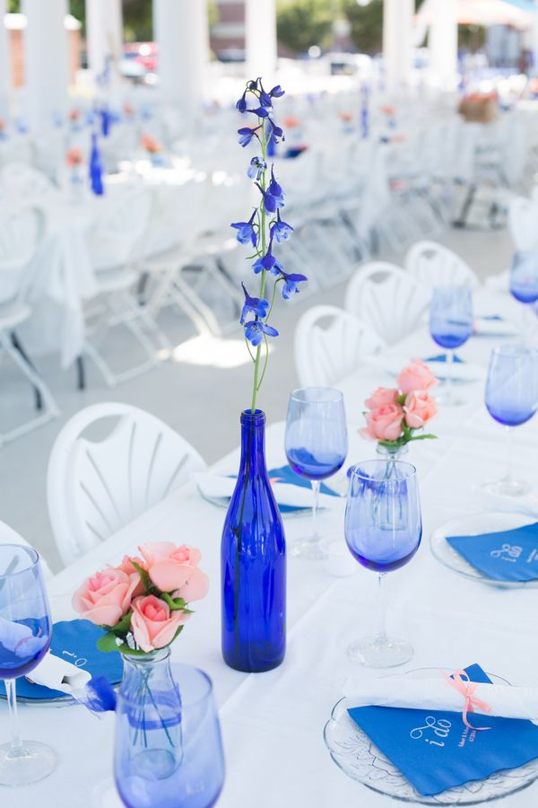 If It Is A Outdoor Wedding Choose Royal Blue Aisle Runner And Sprinkle Pink Daisy Petals On The To Bring Both Color Schemes Together