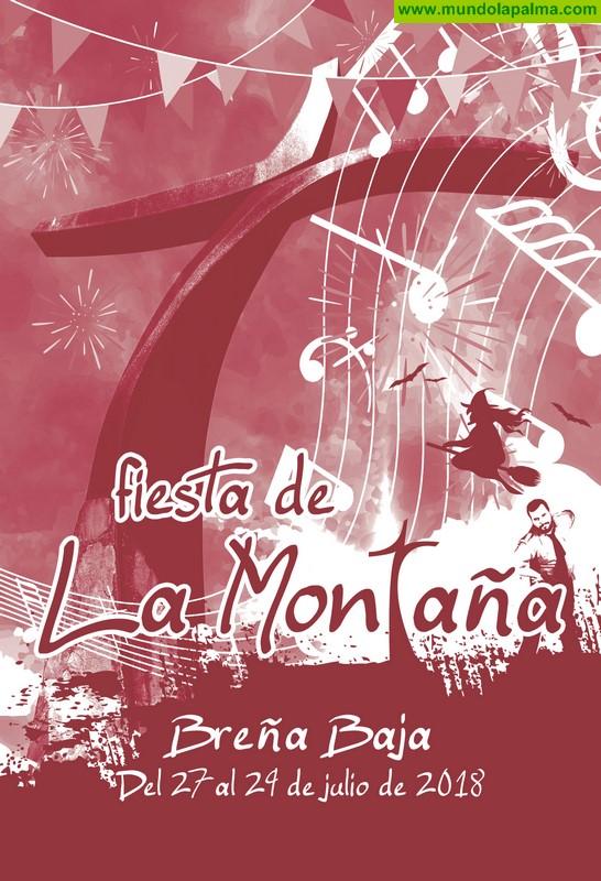 """Programa de actos de la """"Fiesta de La Montaña"""" 2018 en Breña Baja"""