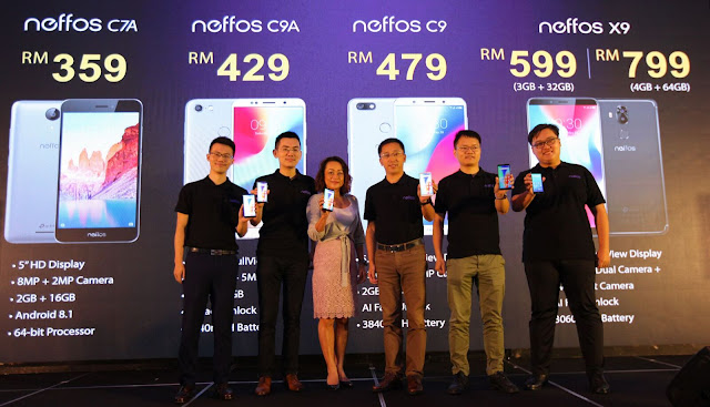 Introducing the latest smartphone TP-Link Neffos C7A, C9, C9A and X9