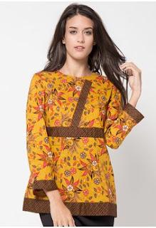 Model Baju Kerja Batik Lengan Panjang