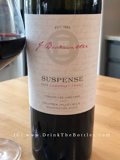 2015 Bookwalter Winery Suspense Cabernet Franc Label