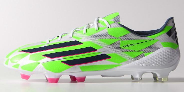 White   Green Adidas F50 Adizero 14-15 Boot Released - Footy Headlines 3784e36c5420