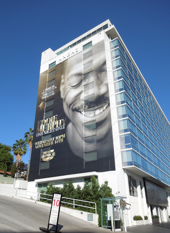 Giant Eddie Murphy One Night Only billboard Sunset Strip