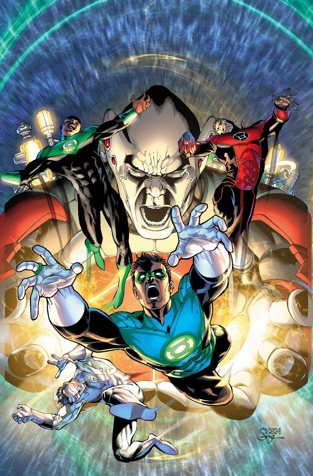 Cover for the finale of the Lights Out Green Lantern line cross over event
