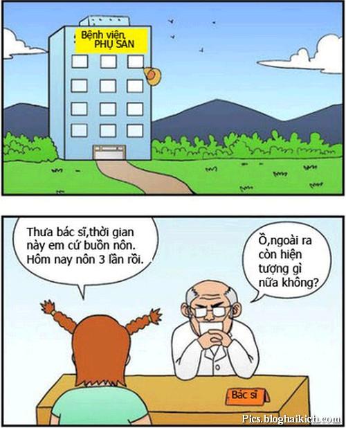 Tranh vui bệnh viện phụ sản