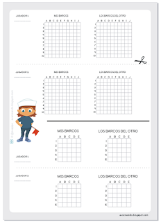 Hundir la flota, base y reglas | Battleship: grid and rules