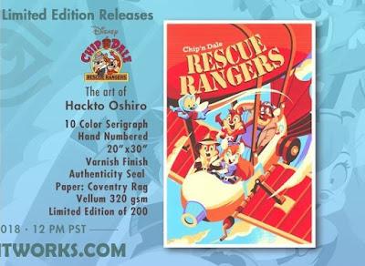 Chip 'n Dale Rescue Rangers Screen Print by Hackto Oshiro x Cyclops Print Works