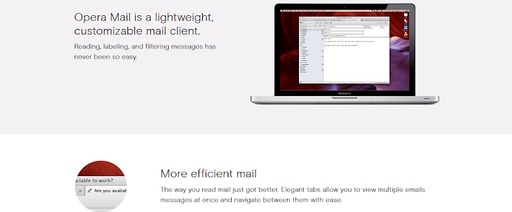 Opera Mail email client