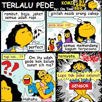 Komik Kartun Konyol: Terlalu PeDe