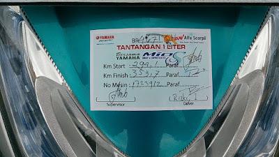 Rizki dari Batam Motovlogger (Beatsky_motovlog) dengan jarak tempuh 60 Km/liter
