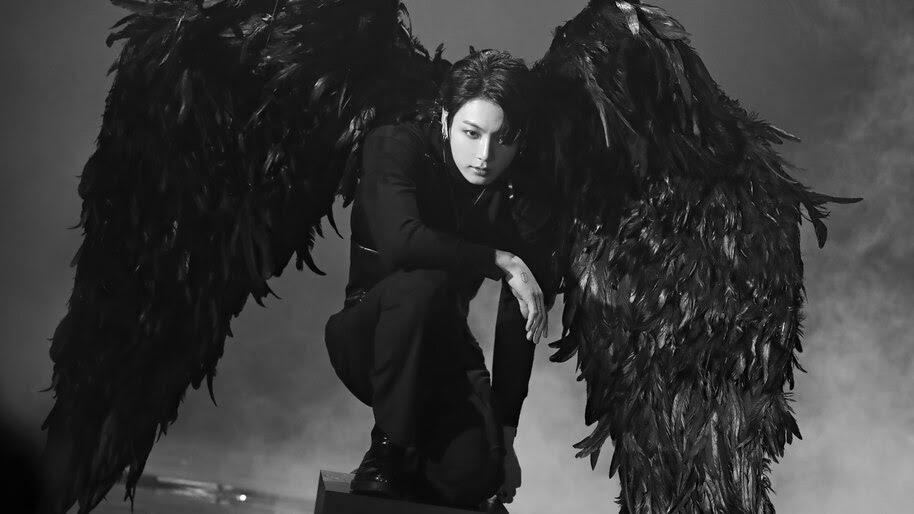 BTS, Jungkook, Black Wings, Map of the Soul 7, 4K, #6.686