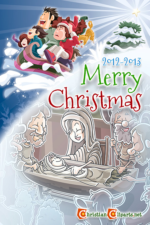 Christmas card from Christiancliparts.net 2012