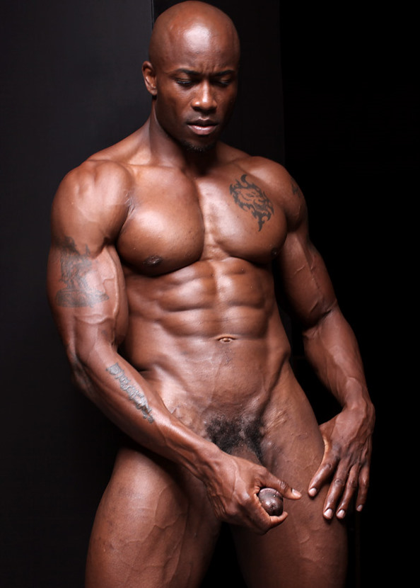 Naked black muscle men bodybuilders nude