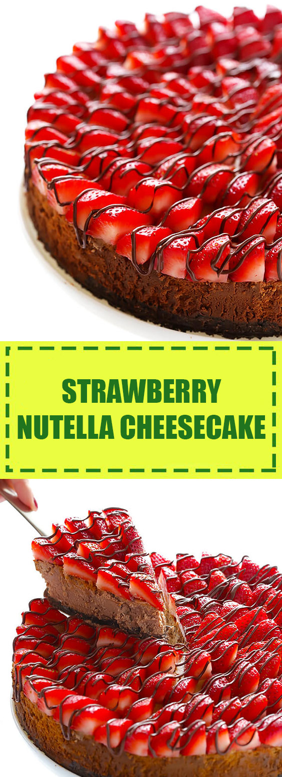 Strawberry Nutella Cheesecake