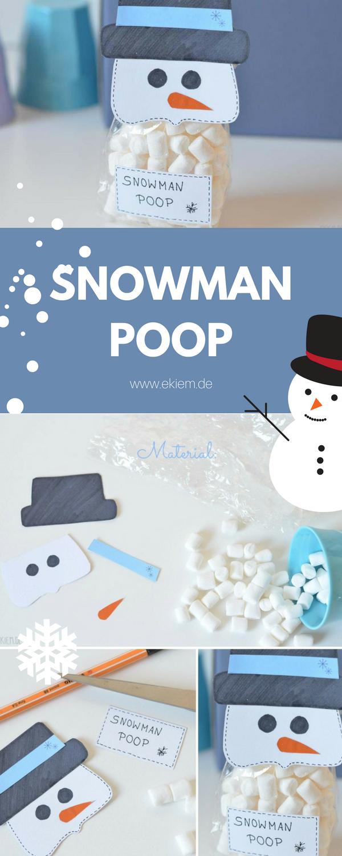 DIY SNOWMAN POOP