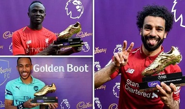 Premier League top scorers: Salah, Mane, Aubameyang Golden Boot winners, standings.